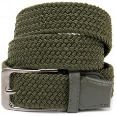 Ремень-резинка текстильный плетёный батал 35мм хаки