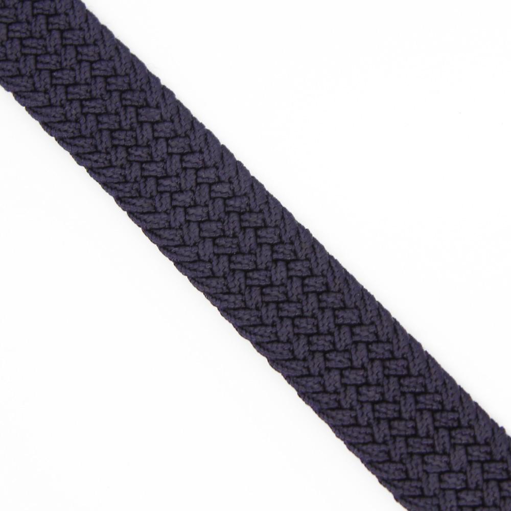 Ремень-резинка текстильный плетёный 25 мм тёмно-синий