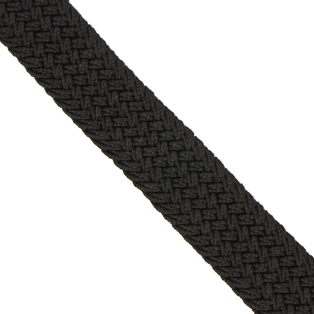 Ремень-резинка текстильный плетёный 25 мм чёрный
