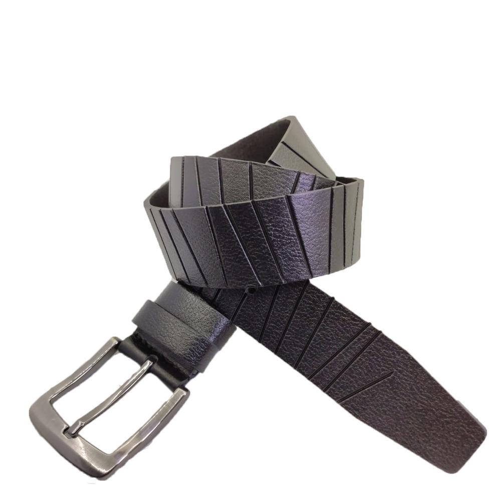Кожаный ремень 6035 Черный