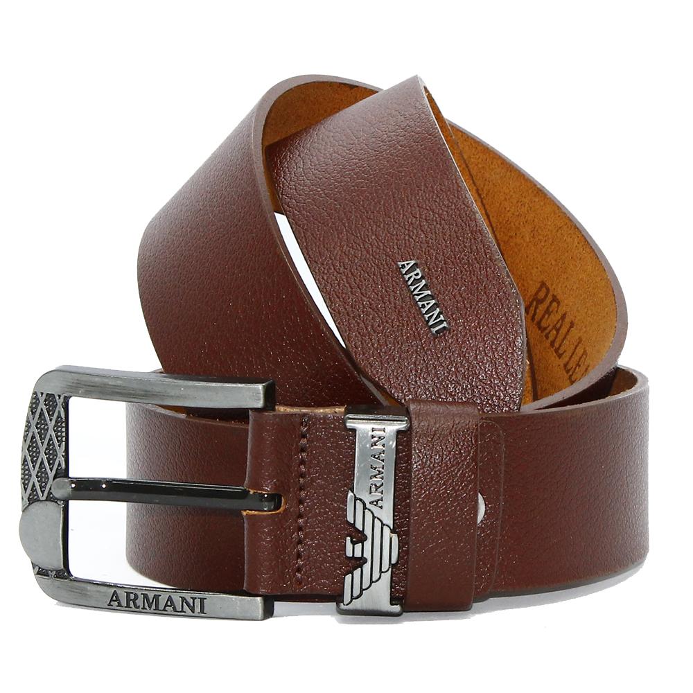 Кожаный ремень 5906 Темно-коричневый 45мм