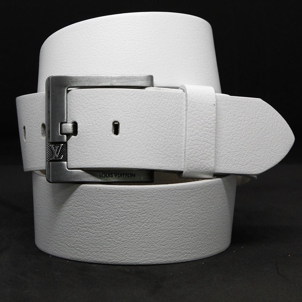 Кожаный ремень 5958 Белый 45мм