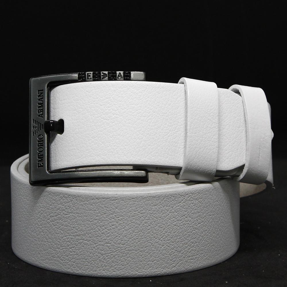 Кожаный ремень 5971 Белый