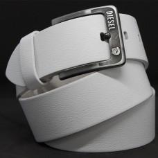 Кожаный ремень 5987 Белый