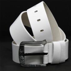 Кожаный ремень 5991 Белый