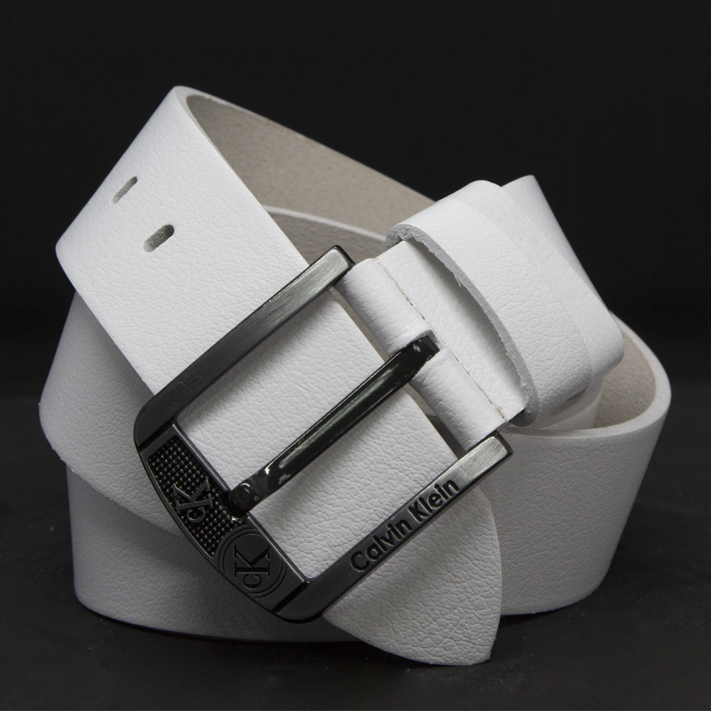 Кожаный ремень 5991 Белый 45мм