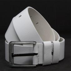 Кожаный ремень 5996 Белый