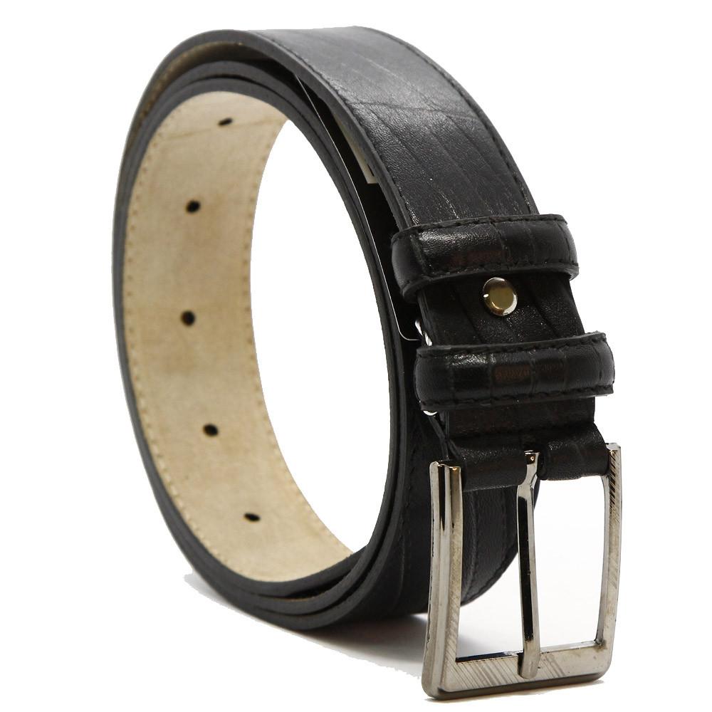 Кожаный ремень 6166 Черный