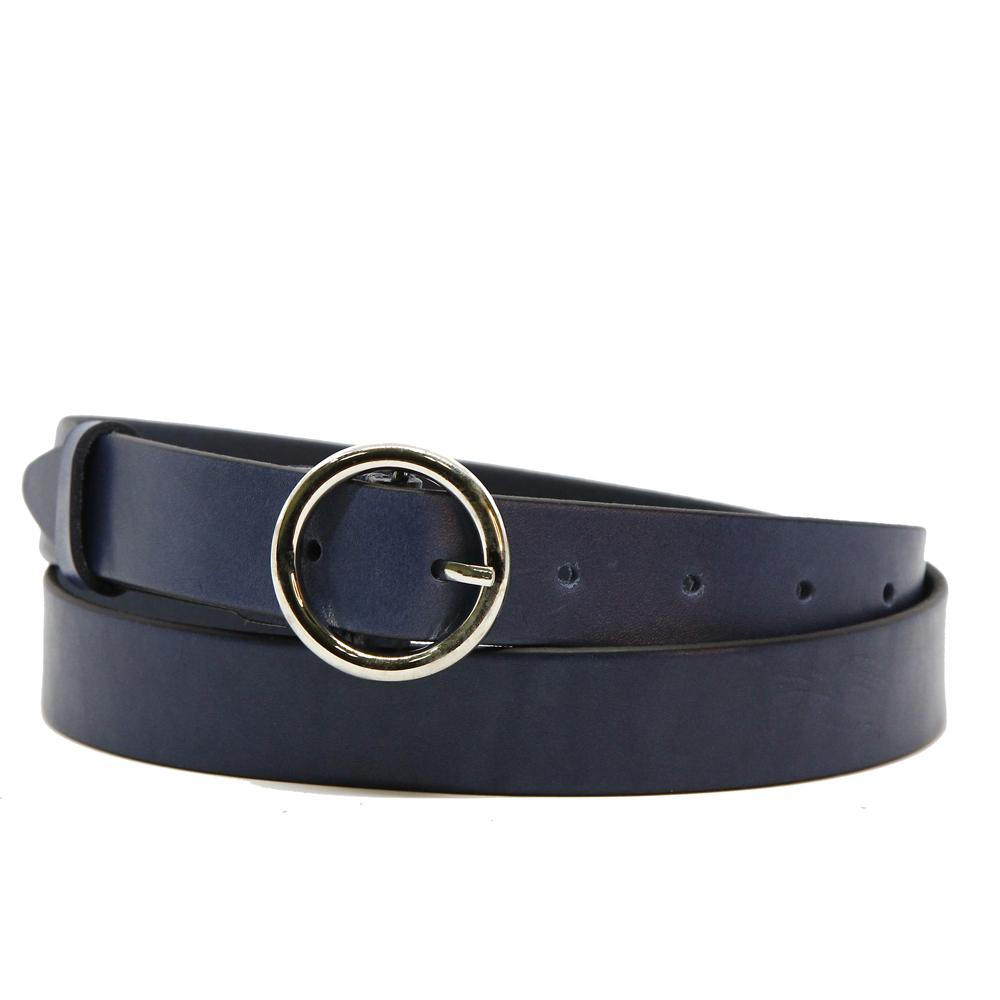 Кожаный ремень 6300 Темно-синий