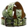 Кожаный ремень 6325 Светло-зеленый