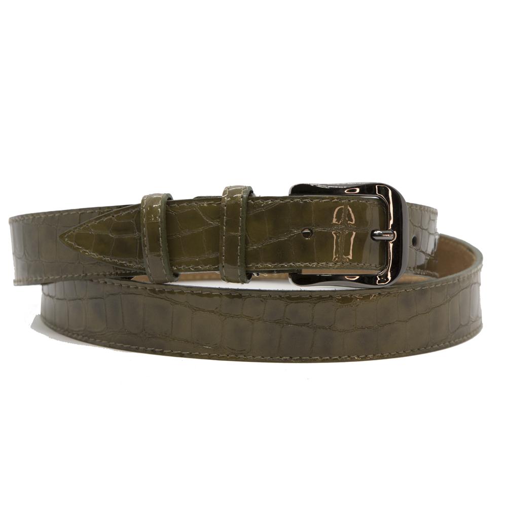 Кожаный ремень 6350 Темно-зеленый