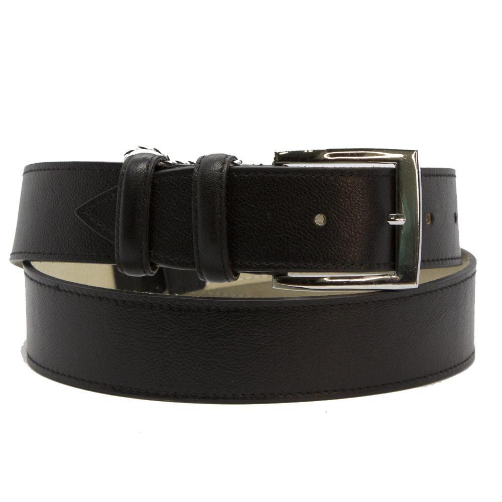 Кожаный ремень 6408 Черный