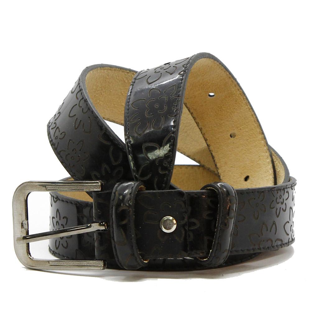 Кожаный ремень 6420 Черный