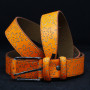 Кожаный ремень 6440 Неоново-оранжевый