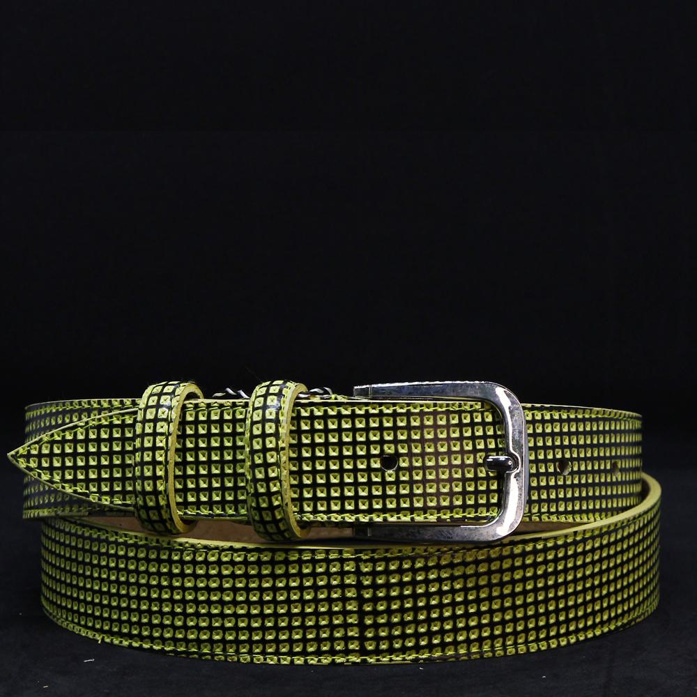 Кожаный ремень 6450 Зеленый