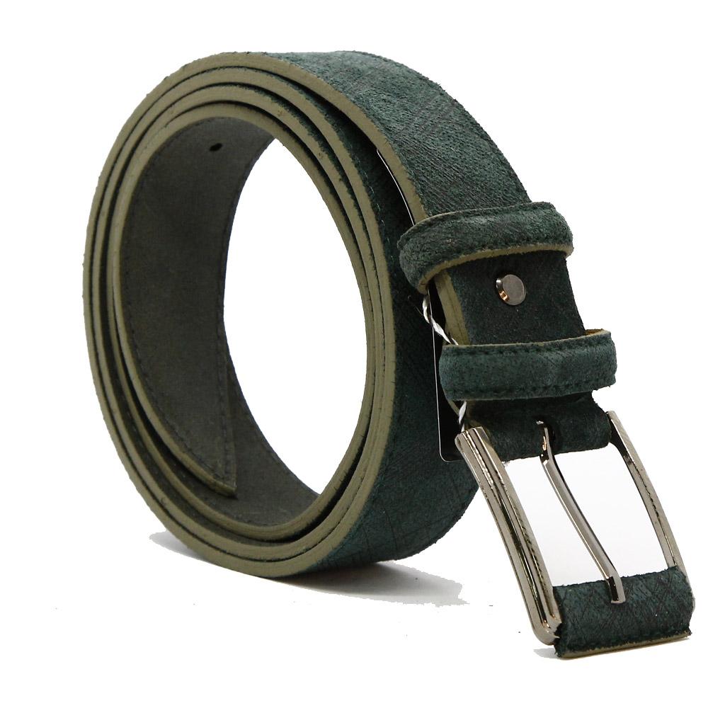 Кожаный ремень 6564 Темно-зеленый