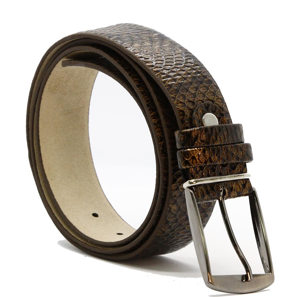 Кожаный ремень 6619 Темно-коричневый