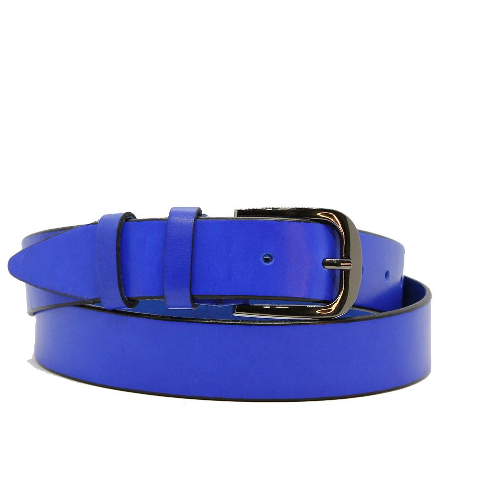 Кожаный ремень 6708 Синий