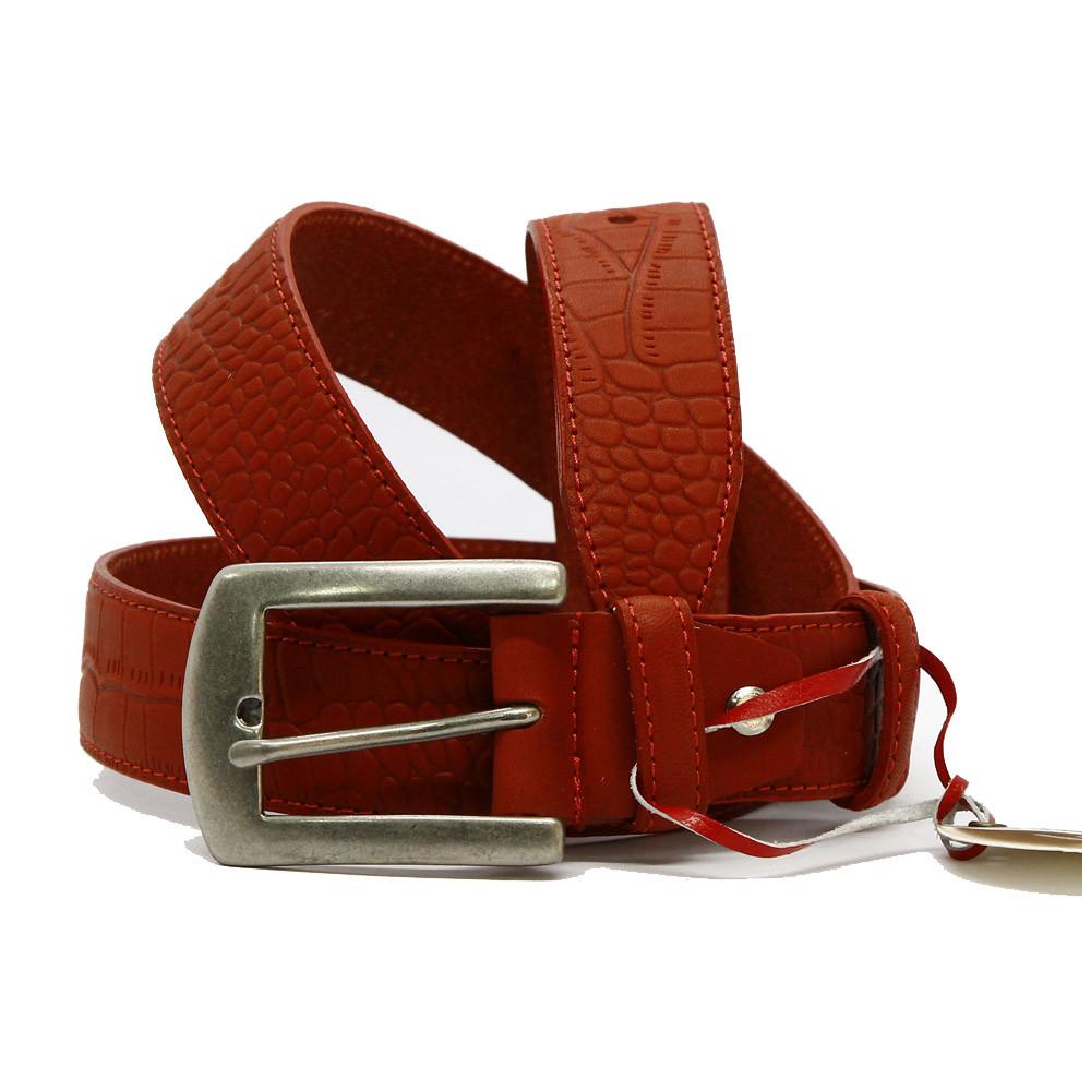 Кожаный ремень 6737 Красный