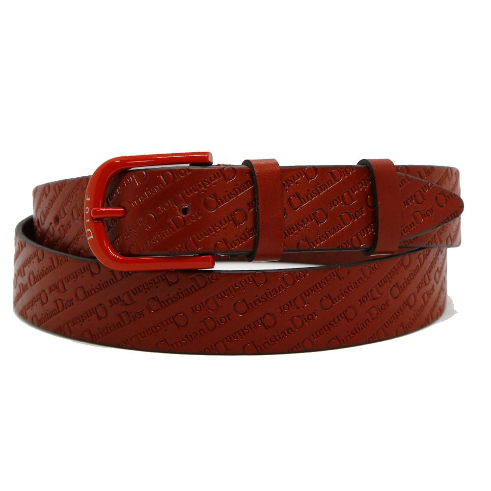 Кожаный ремень 6752 Красный
