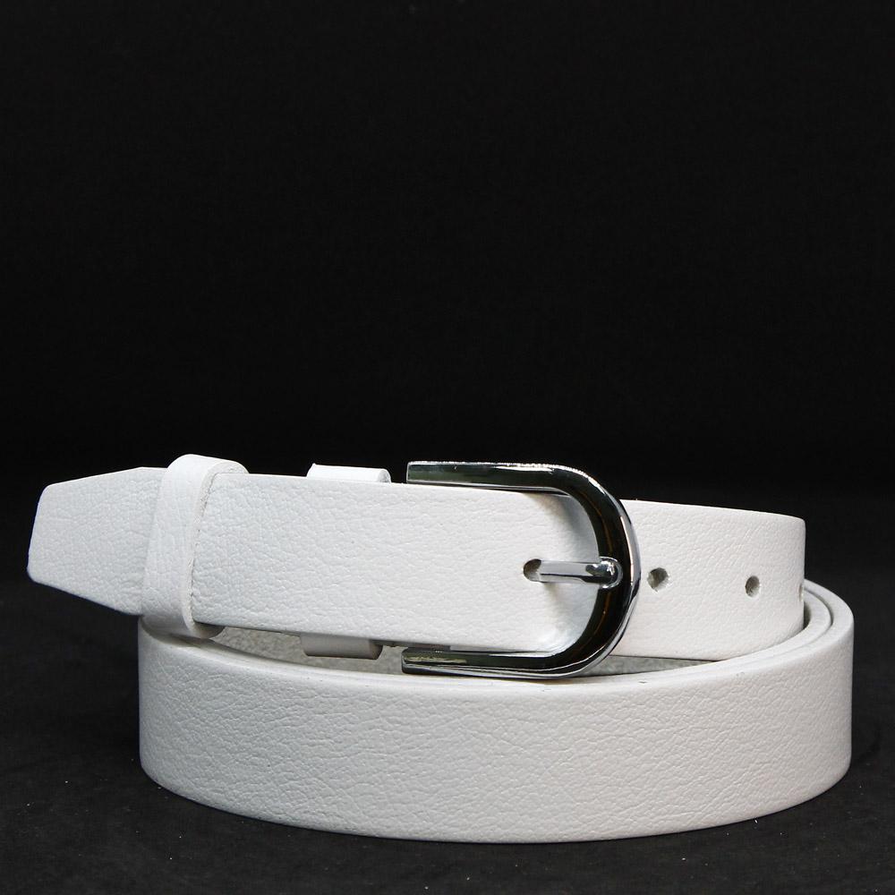 Кожаный ремень 6768 Белый