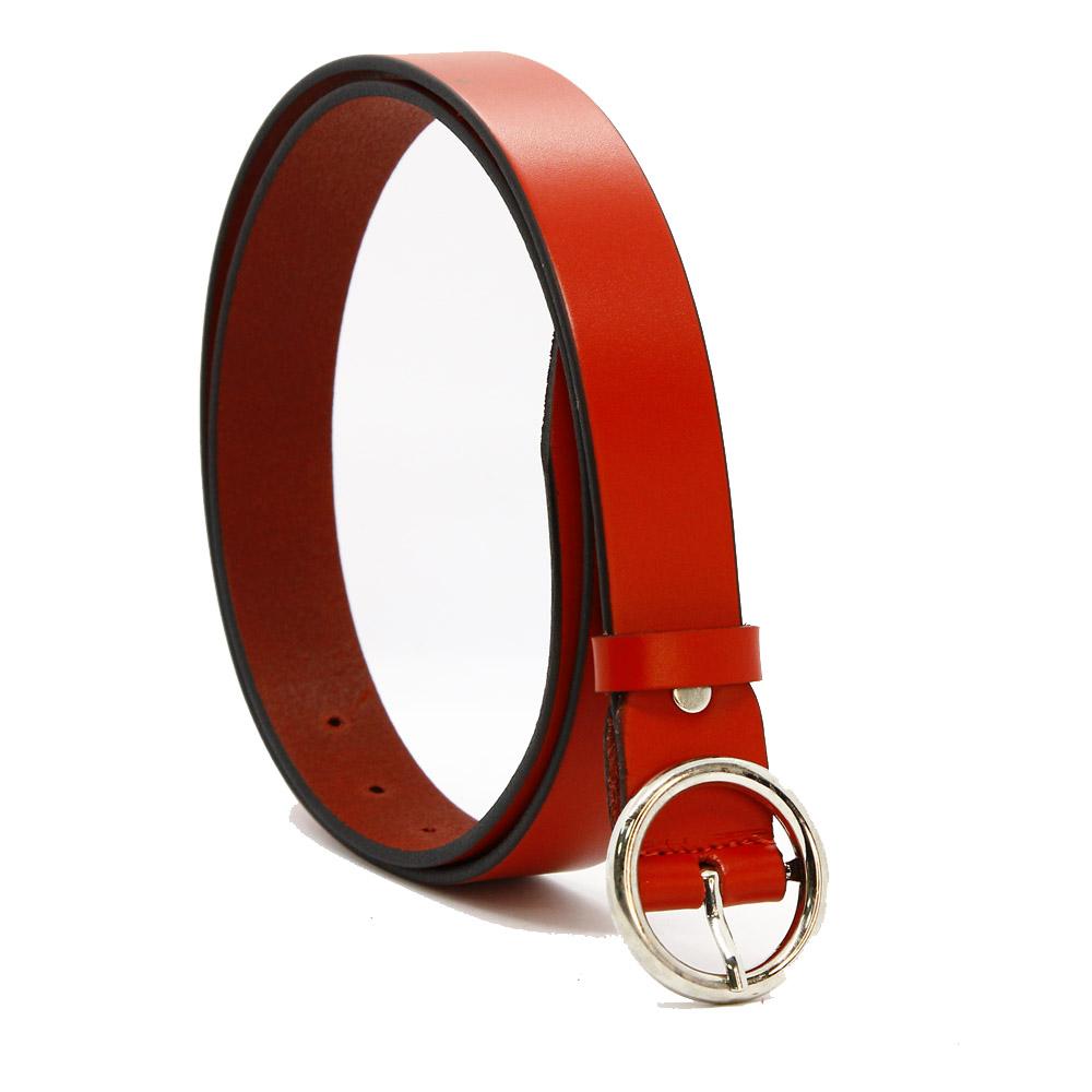 Кожаный ремень 6798 Красный