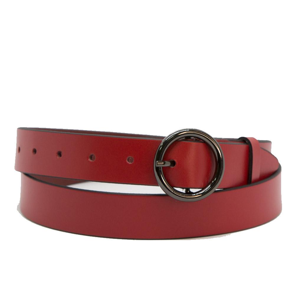 Кожаный ремень 6802 Красный