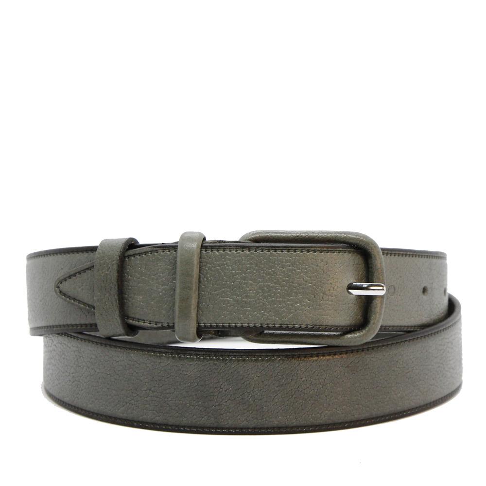 Кожаный ремень 6806 Серый