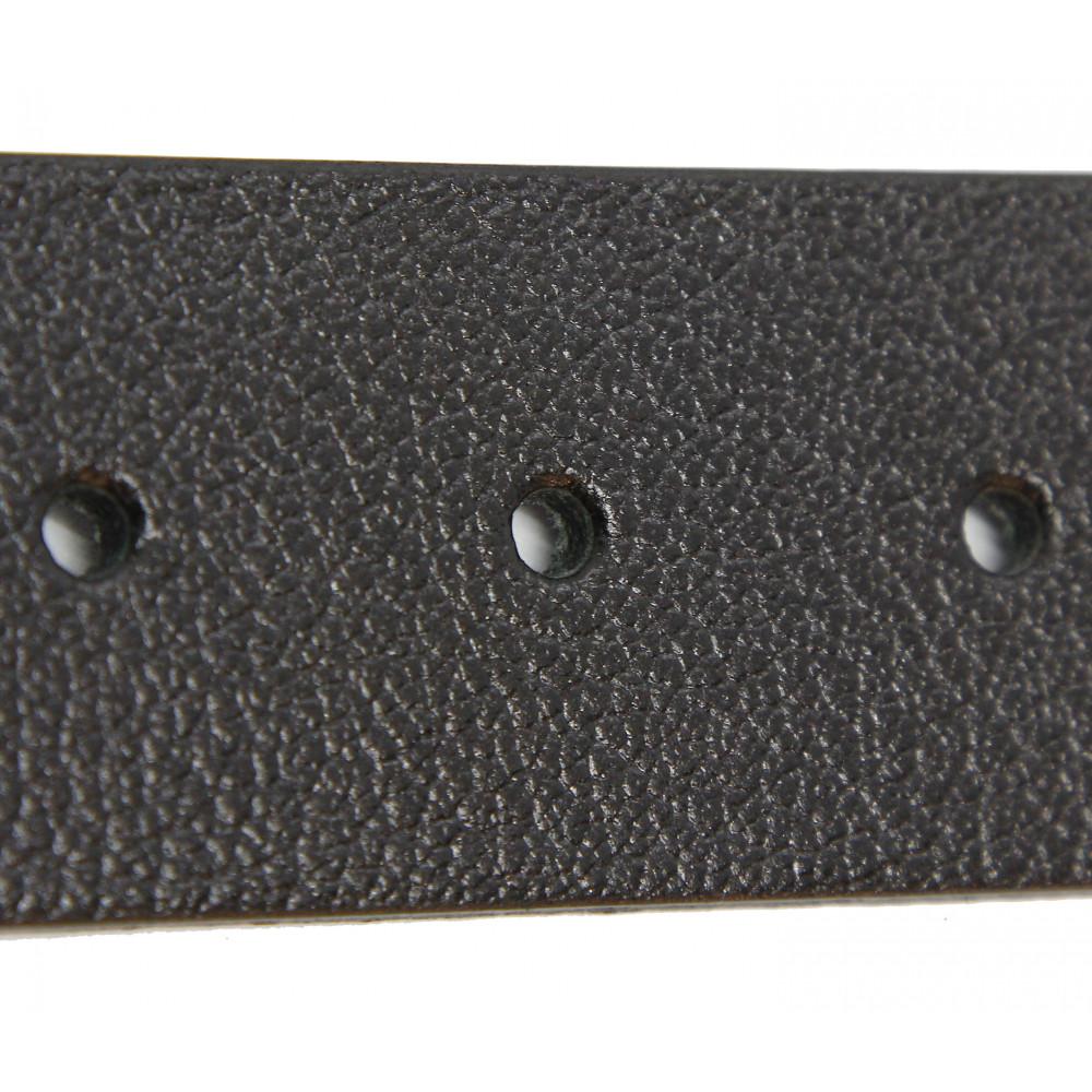 Полоса кожаная 6858 Черная 40 мм