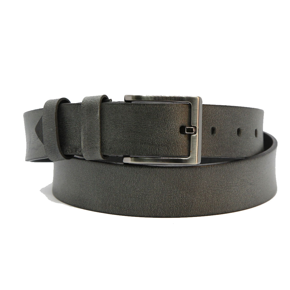 Ремень кожаный 6900 Серый
