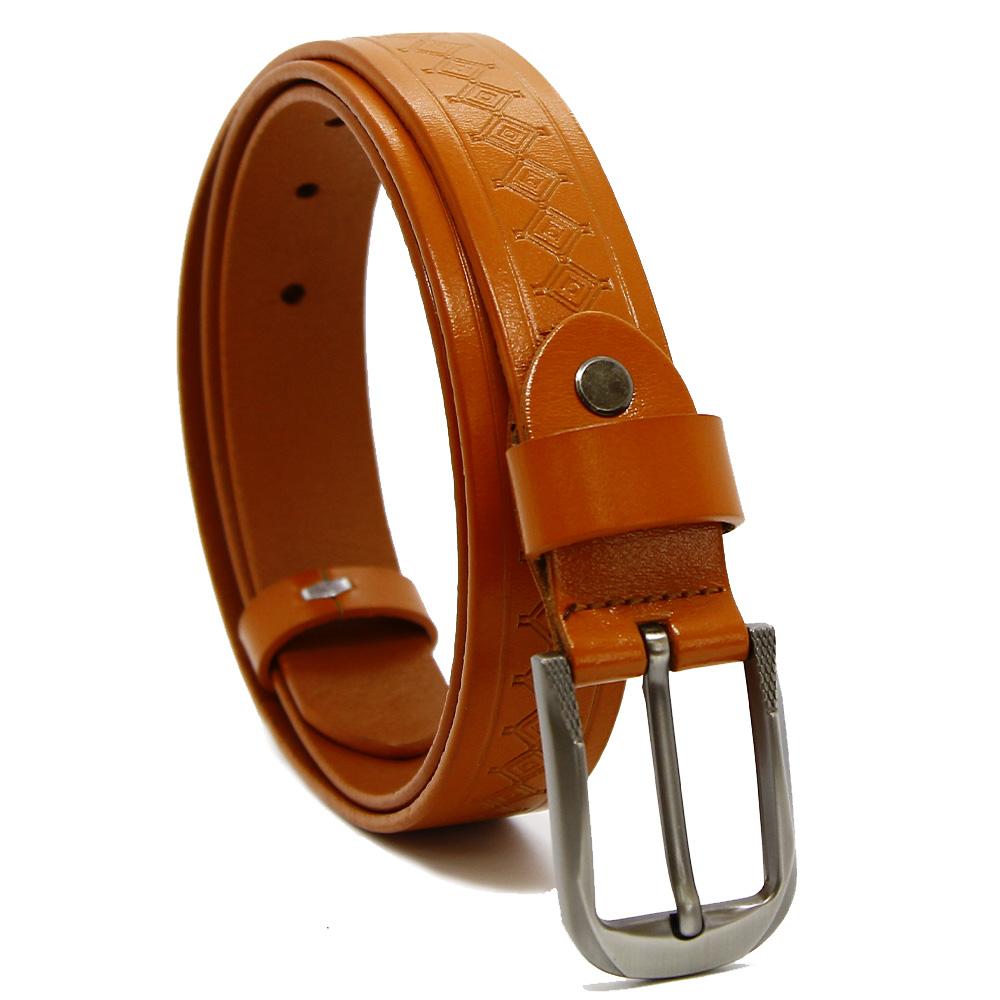 Кожаный ремень YZ3015-7492 Рыжий