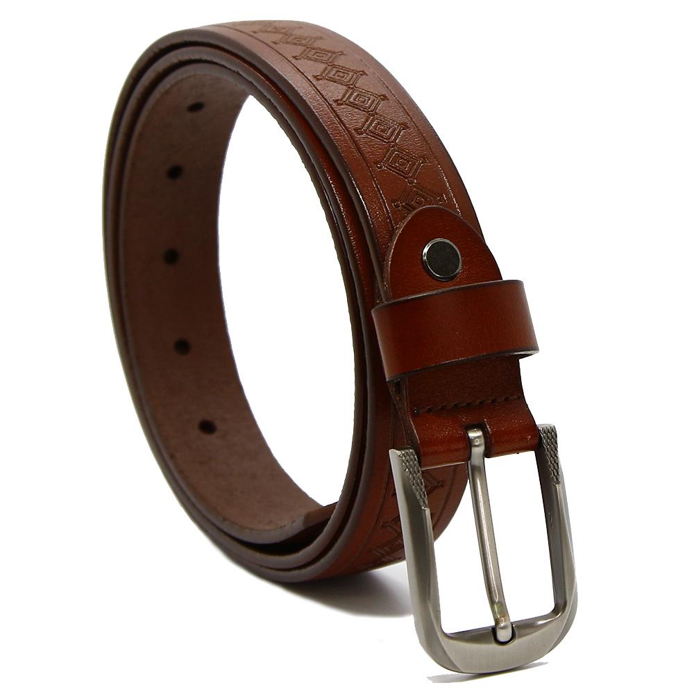 Кожаный ремень 7495 Темно-коричневый