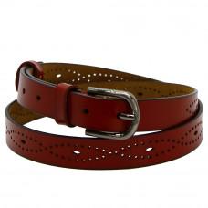 Кожаный ремень 2506-7531 Красный