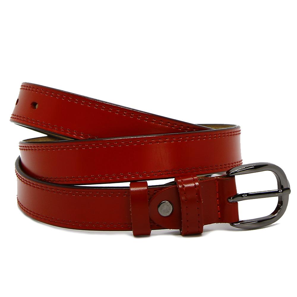 Кожаный ремень 2506-7534 Красный