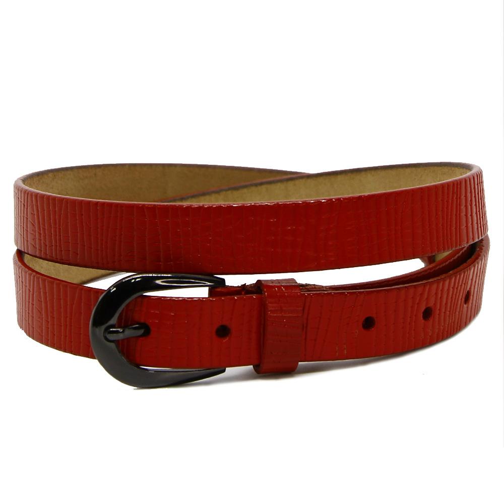 Кожаный ремень 7557 Красный