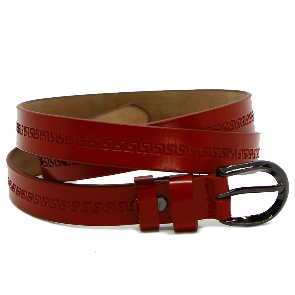 Кожаный ремень 7572 Красный