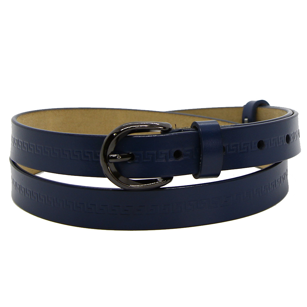 Кожаный ремень 7582 Синий