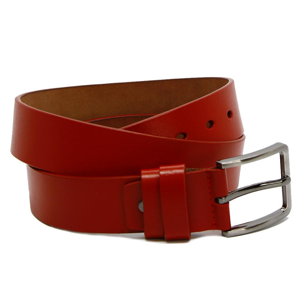 Кожаный ремень 7593 Красный