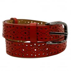 Кожаный ремень 7597 Красный
