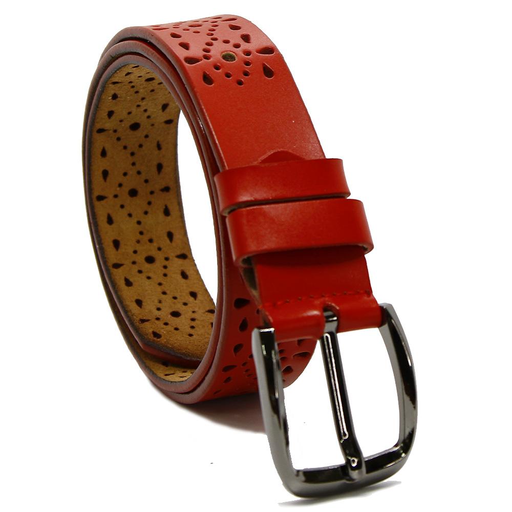 Ремень женский 7597 Красный