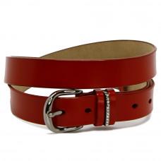 Кожаный ремень 7602 Красный