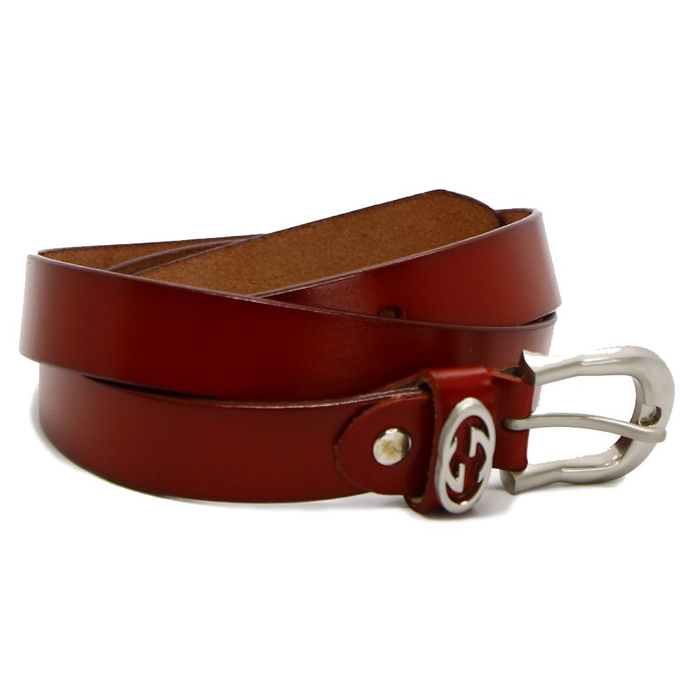 Кожаный ремень 7611 Красный
