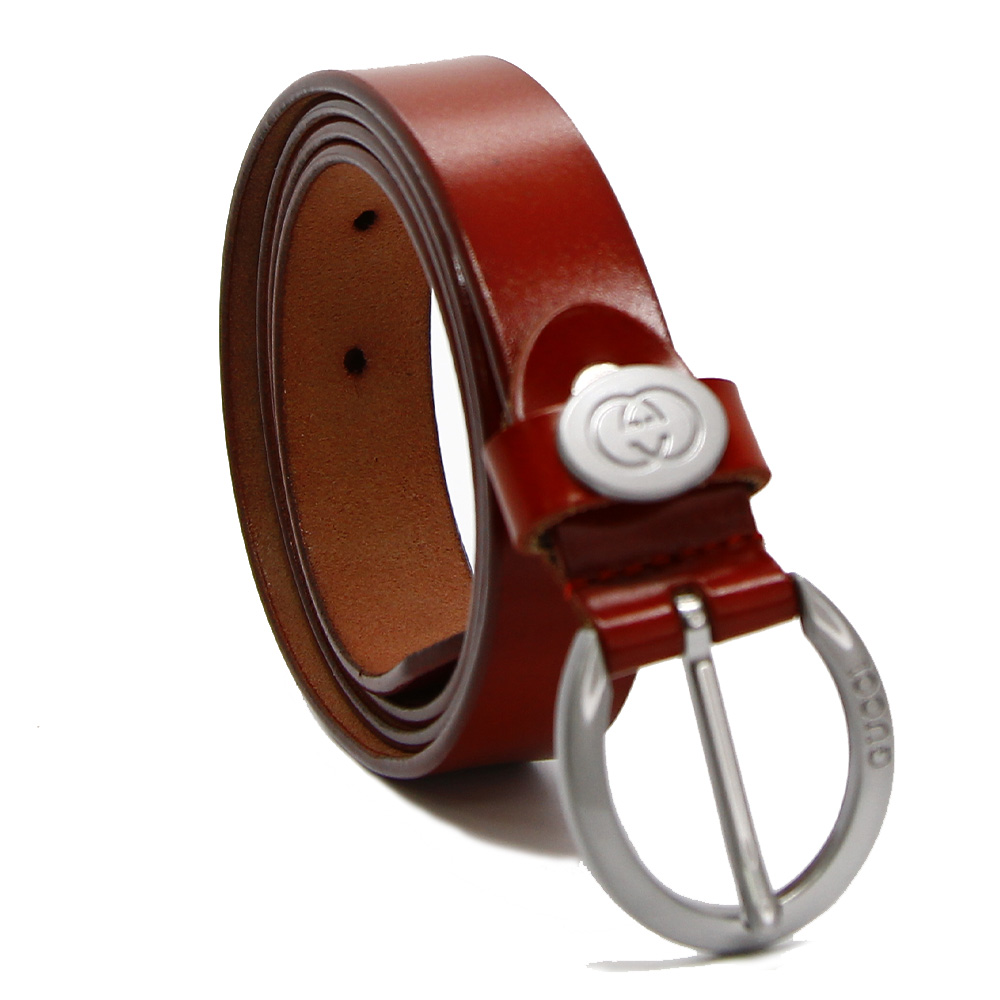 Кожаный ремень 7628 Красный