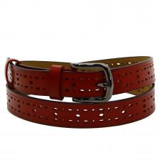 Кожаный ремень 7655 Красный