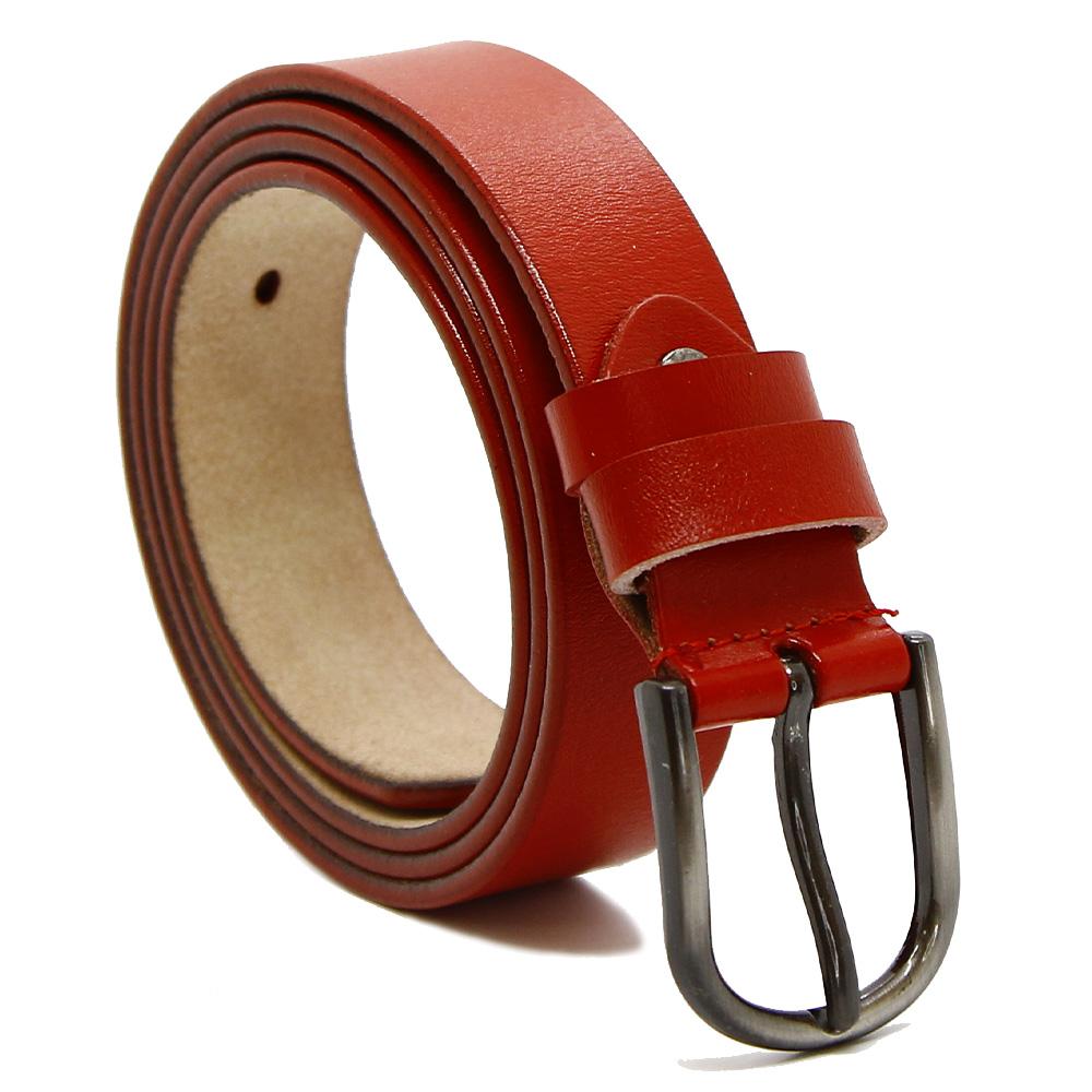 Кожаный ремень 7667 Красный