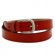 Кожаный ремень 7671 Красный