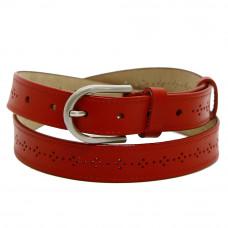 Кожаный ремень 7687 Красный