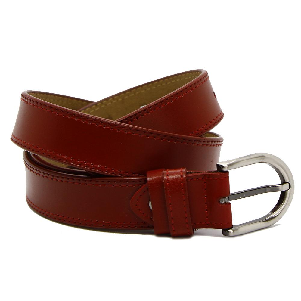 Кожаный ремень 7700 Красный