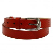 Кожаный ремень 7707 Красный