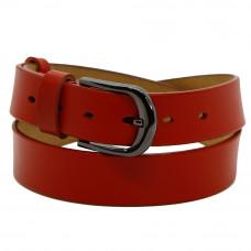 Кожаный ремень 7721 Красный